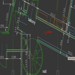 AutoCAD dimensioning tool