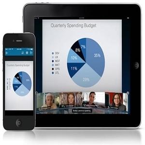 WebEx mobile meeting