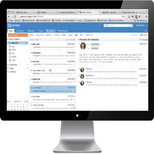Zimbra Email UI