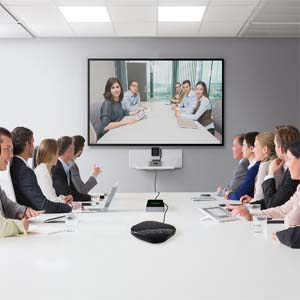 Large video conference room solution